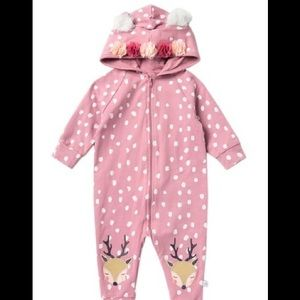 Spotted Deer Hooded Romper